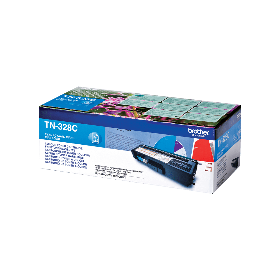 Brother TN328C toner cyan - super haut rendement 2