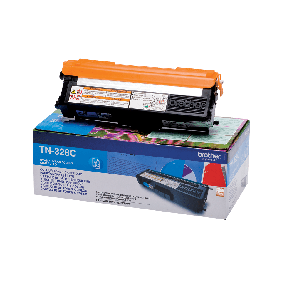 TN-328C originele cyaan Brother toner met super hoog rendement