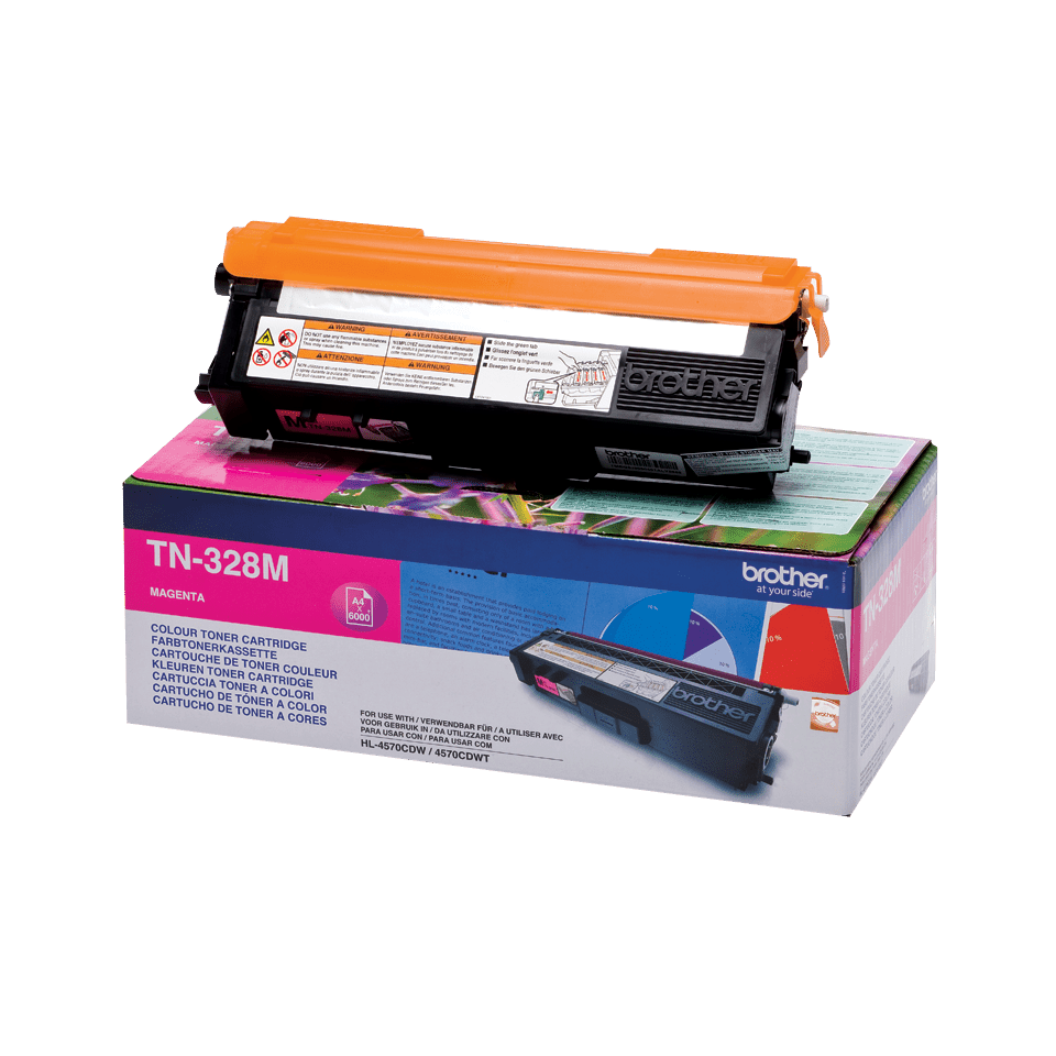 TN-328M originele magenta Brother toner met super hoog rendement