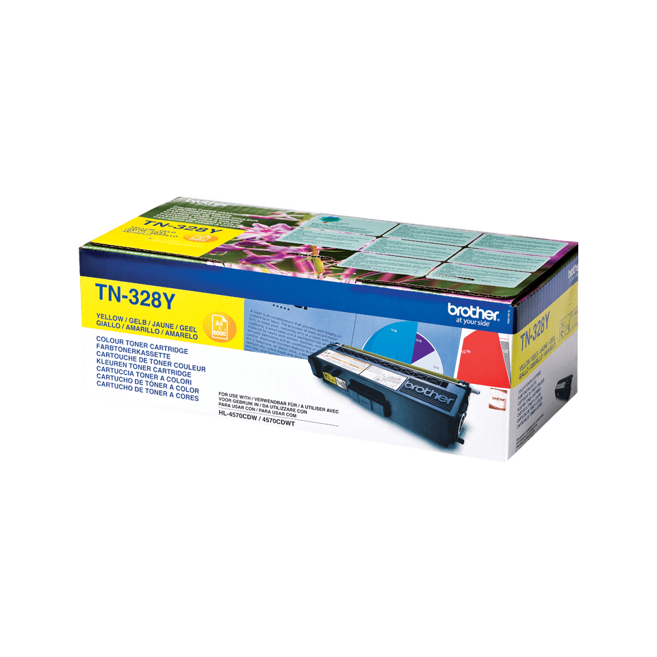 Brother TN328Y toner geel - super hoog rendement 2