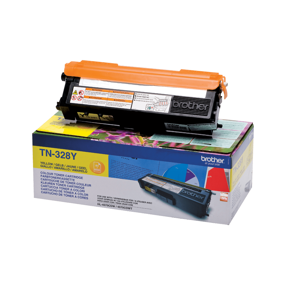 Brother TN328Y toner geel - super hoog rendement