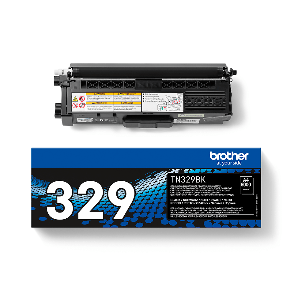 TN-329BK toner noir d'origine Brother à super haut rendement 2