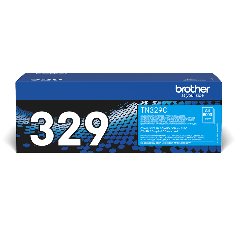 TN-329C originele cyaan Brother toner met super hoog rendement