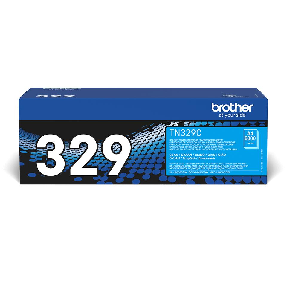 TN-329C toner cyan d'origine Brother à super haut rendement