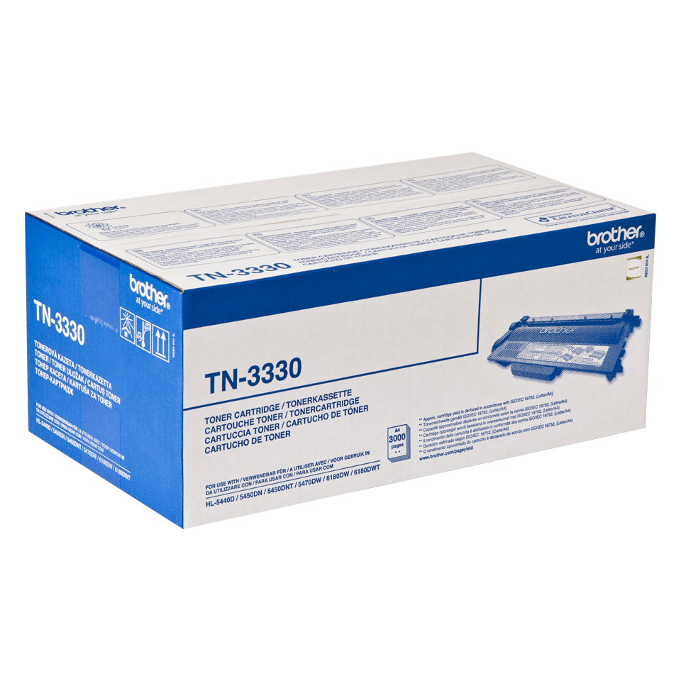 TN-3330 toner noir d'origine Brother à rendement standard