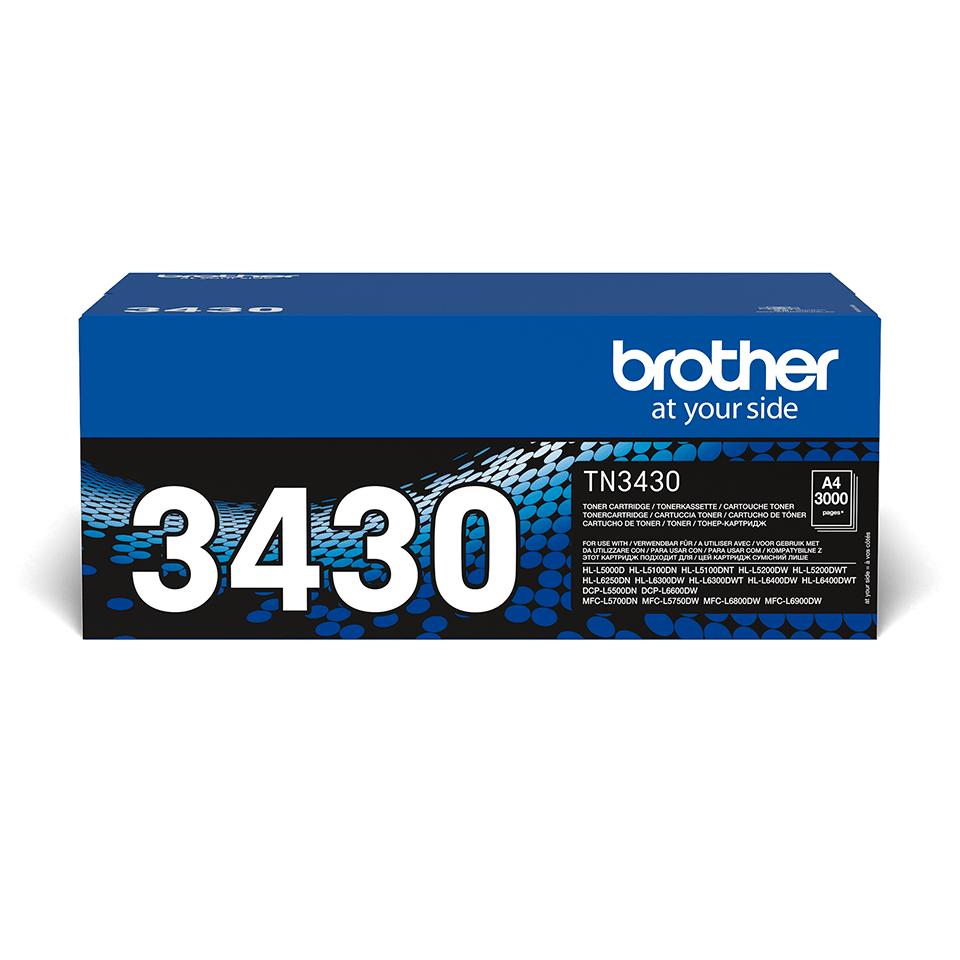 TN-3430 originele zwarte Brother toner met standaard rendement