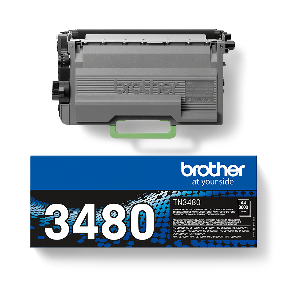 TN-3480 toner noir d'origine Brother à haut rendement