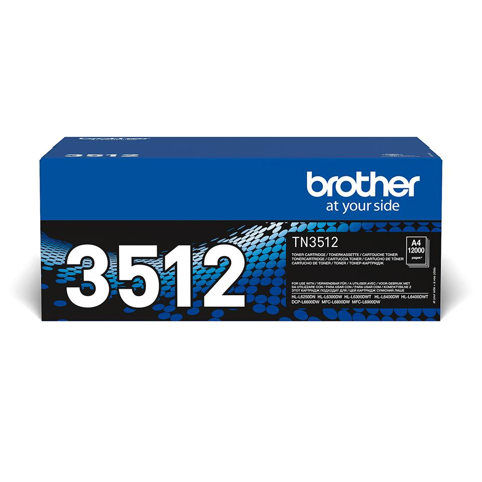 TN-3512 toner noir d'origine Brother à super haut rendement