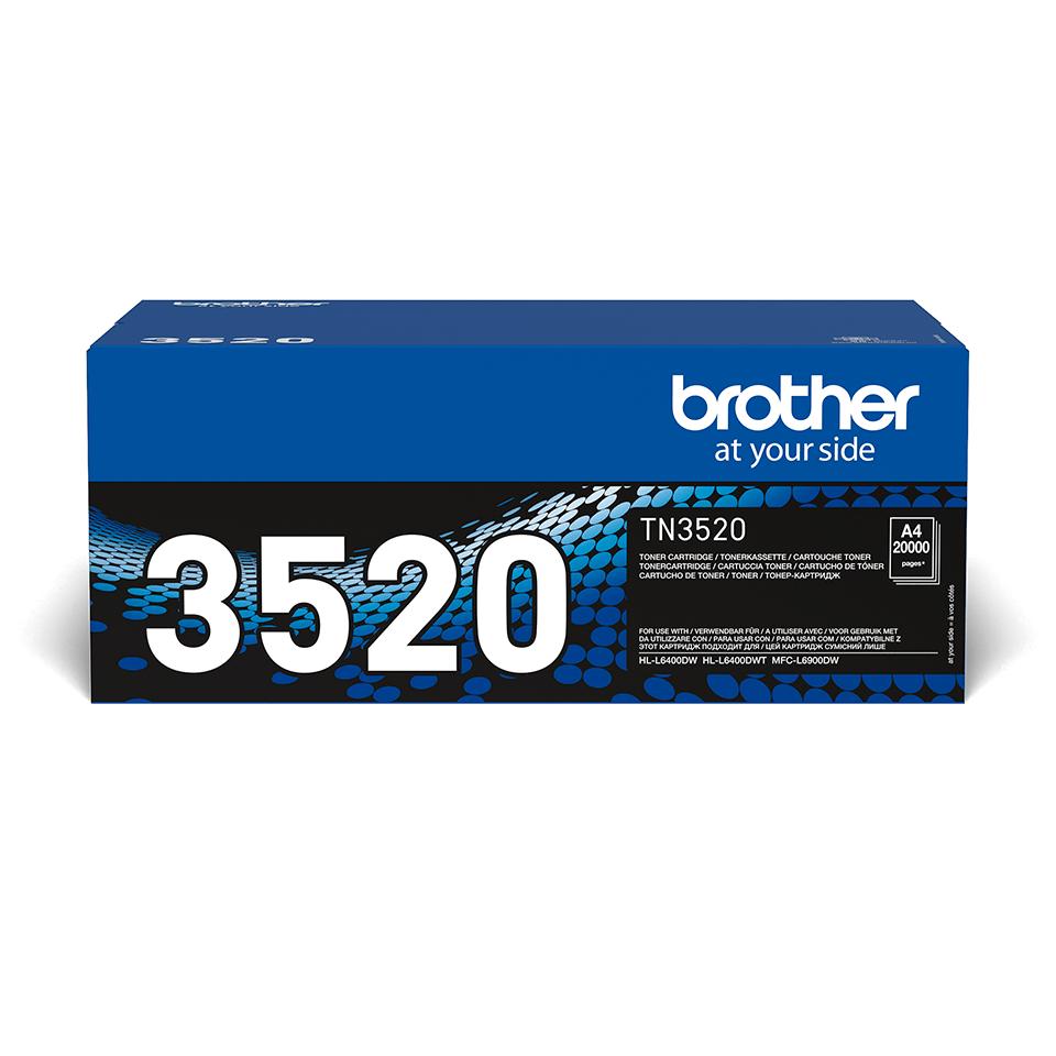 TN-3520 originele zwarte Brother toner met ultra hoog rendement