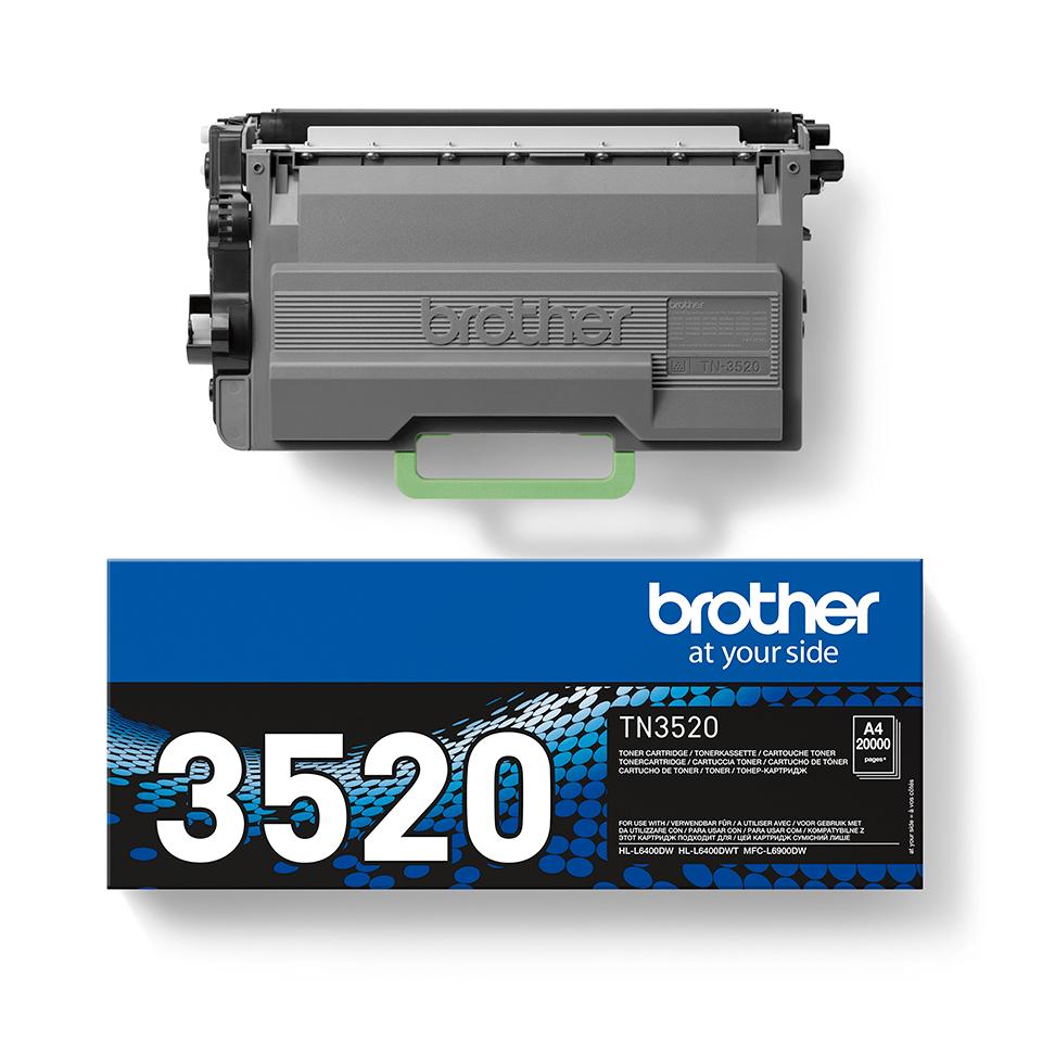TN-3520 toner noir d'origine Brother à ultra haut rendement