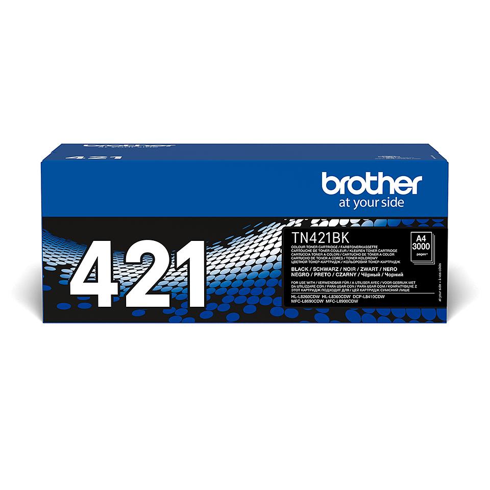 TN-421BK originele zwarte Brother toner met standaard rendement