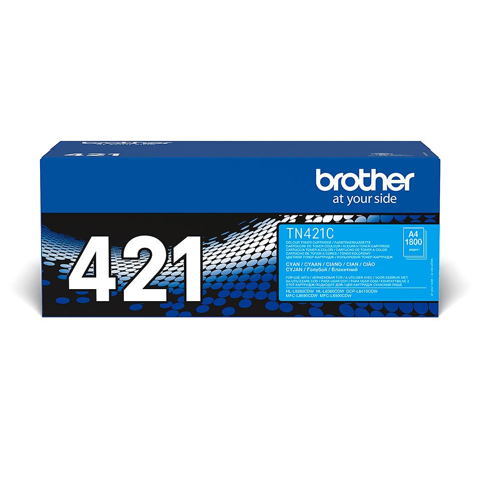 TN-421C toner cyan d'origine Brother à rendement standard