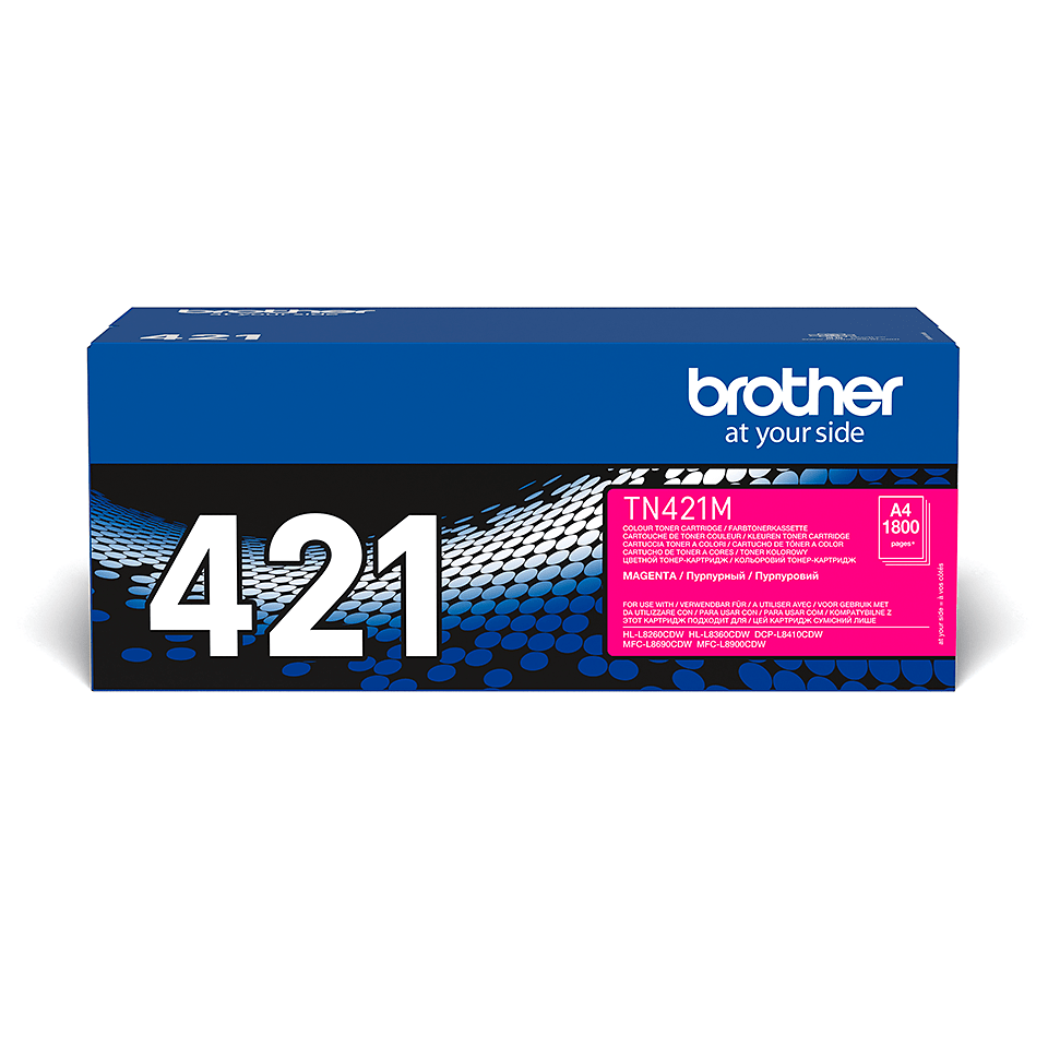 TN-421M toner magenta d'origine Brother à rendement standard
