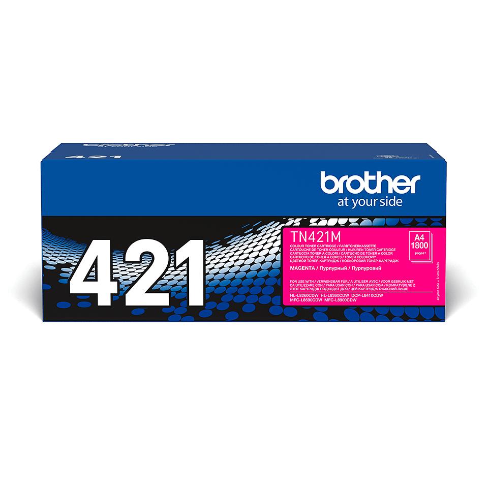 TN-421M toner magenta d'origine Brother à rendement standard