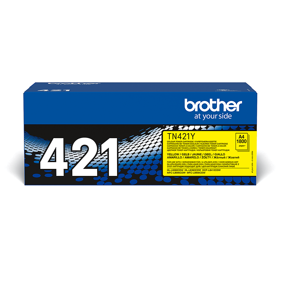 TN-421Y toner jaune d'origine Brother à rendement standard