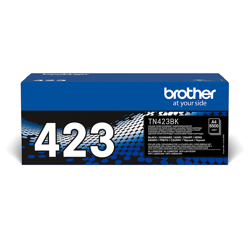 TN-423BK toner noir d'origine Brother à haut rendement