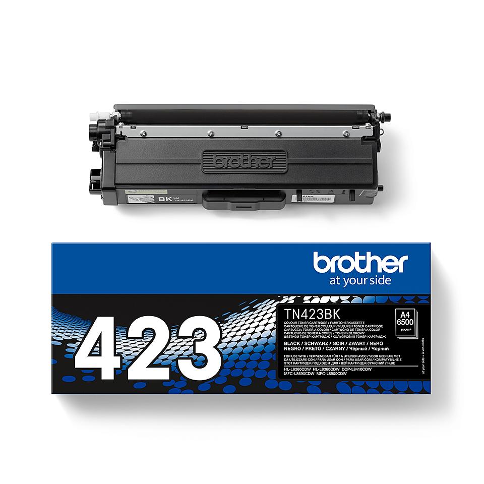 TN-423BK originele zwarte Brother toner met hoog rendement 2