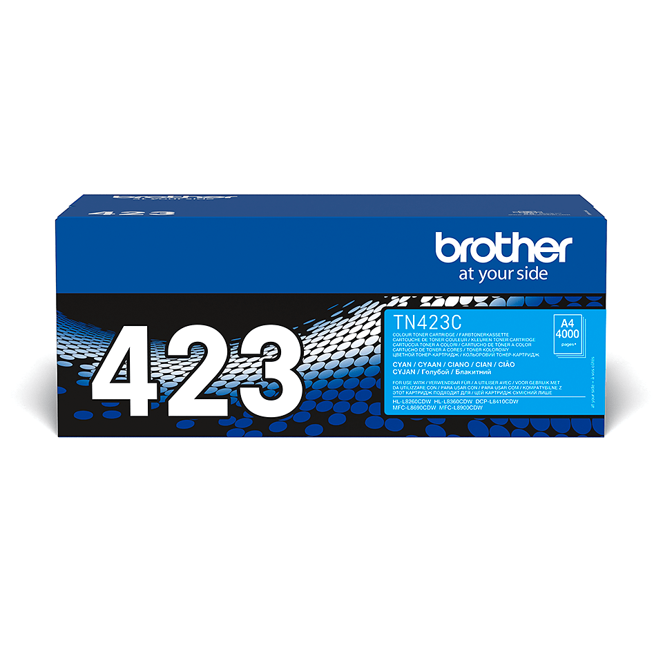 TN-423C originele cyaan Brother toner met hoog rendement