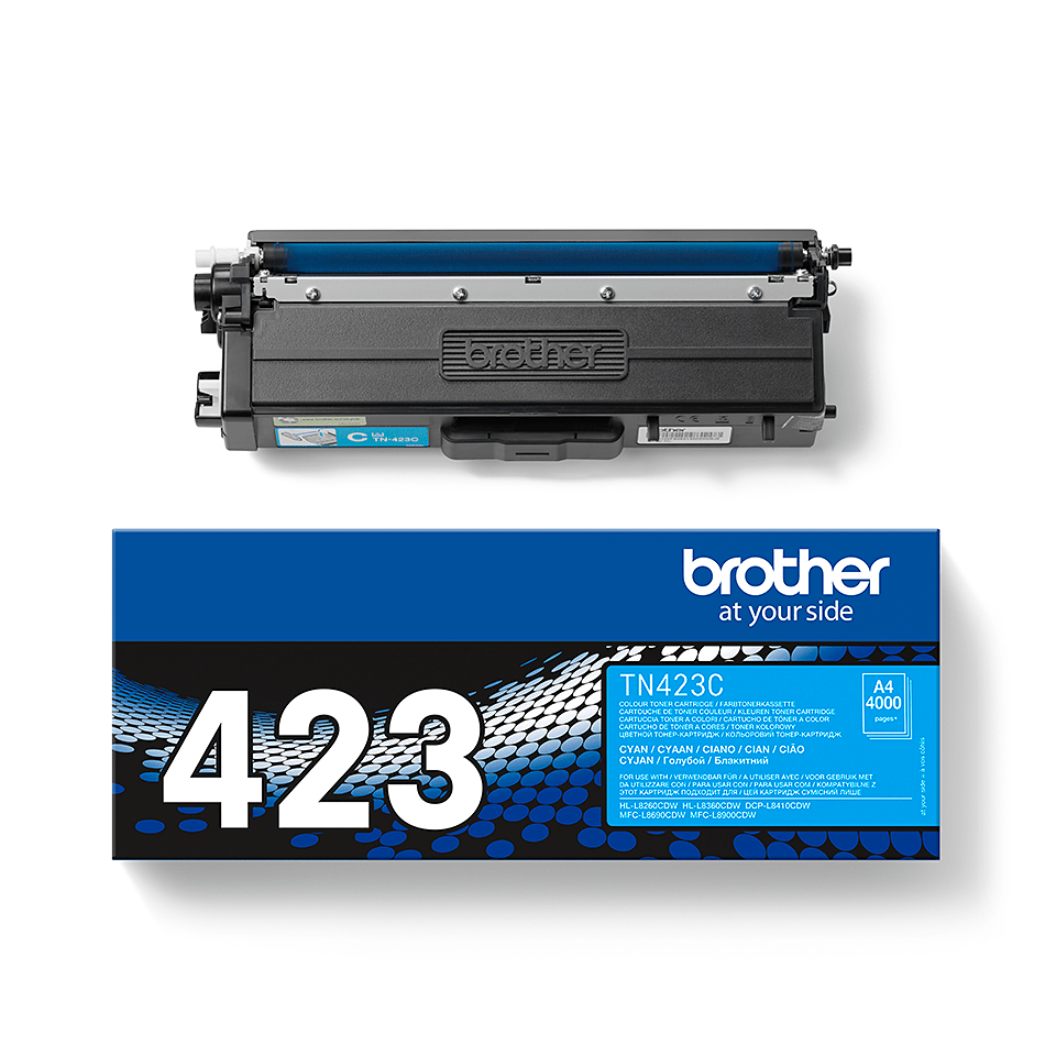 TN-423C toner cyan d'origine Brother à haut rendement