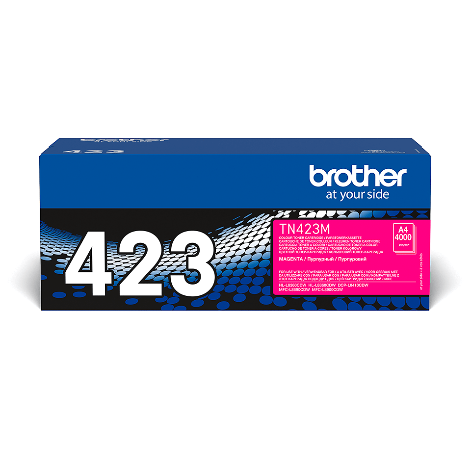 TN-423M originele magenta Brother toner met hoog rendement