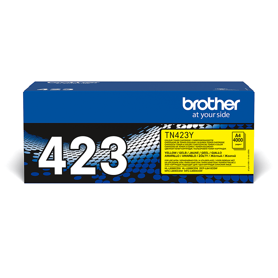 TN-423Y toner jaune d'origine Brother à haut rendement