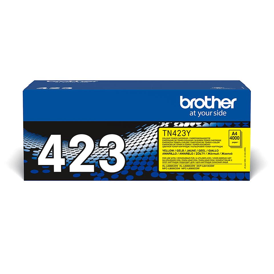 TN-423Y originele gele Brother toner met hoog rendement 2