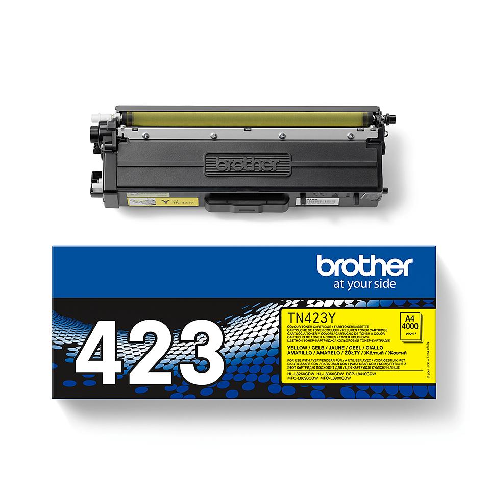 TN-423Y originele gele Brother toner met hoog rendement