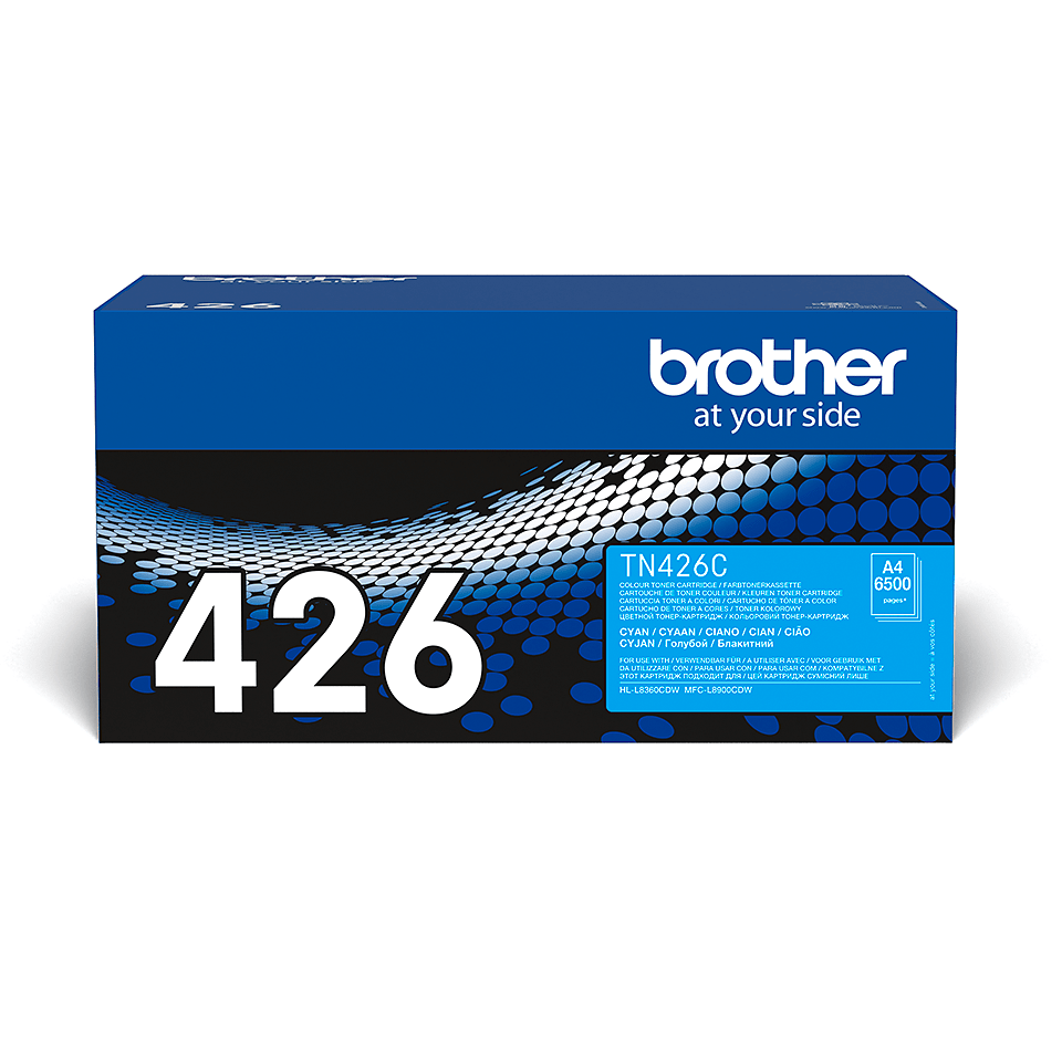 TN-426C originele cyaan Brother toner met super hoog rendement