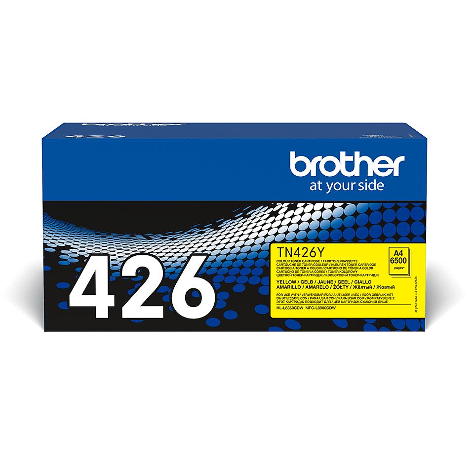 TN-426Y originele gele Brother toner met super hoog rendement 2