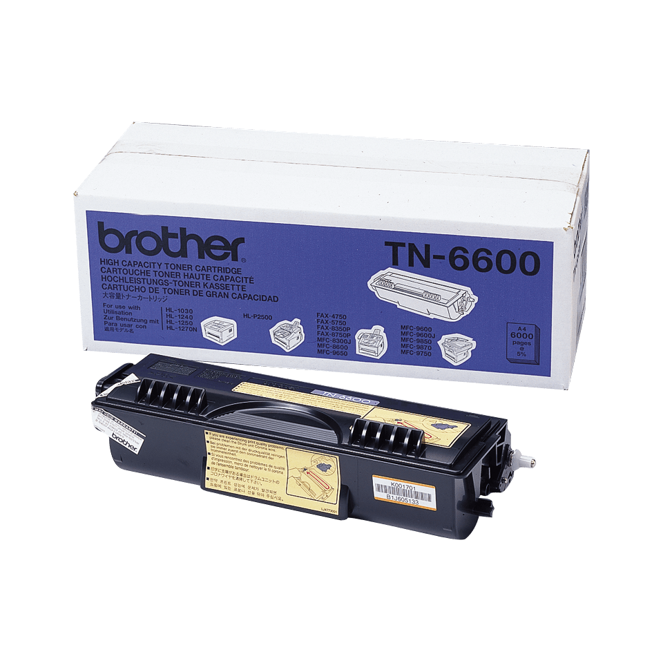 TN-6600 toner noir d'origine Brother à haut rendement