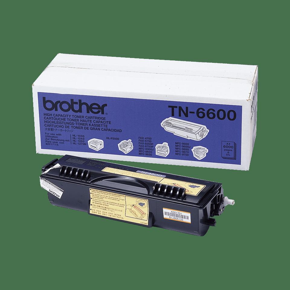TN-6600 toner noir d'origine Brother à haut rendement