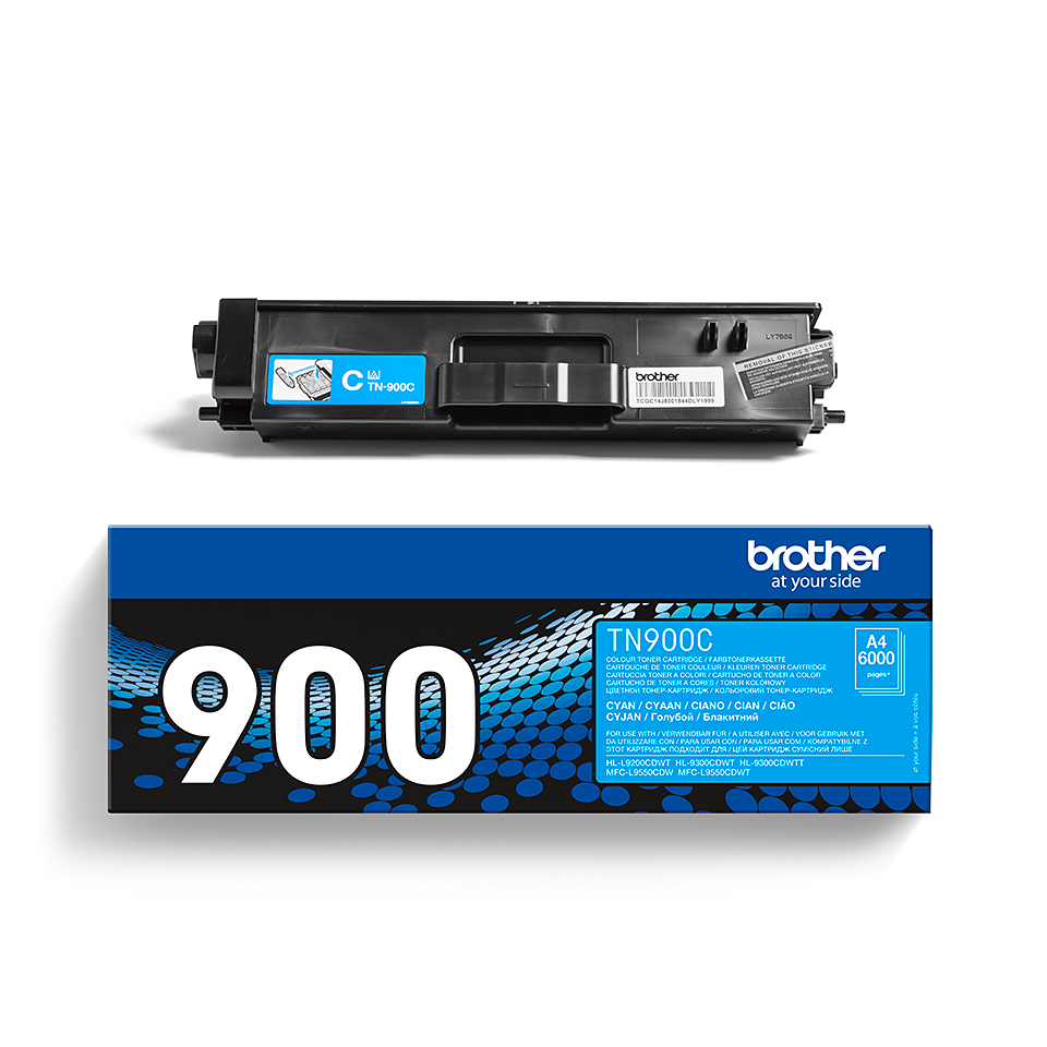 TN-900C toner cyan d'origine Brother à ultra haut rendement 2