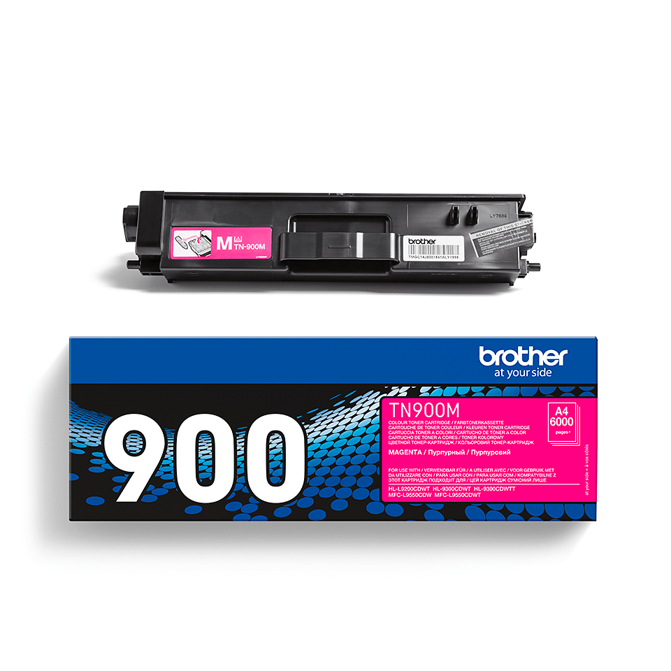 TN-900M originele magenta Brother toner met ultra hoog rendement