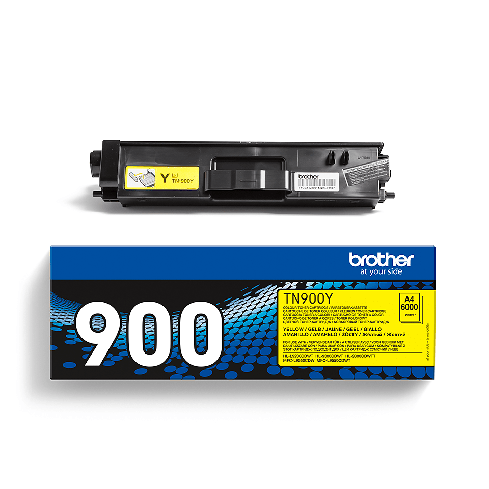TN-900Y originele gele Brother toner met ultra hoog rendement 2