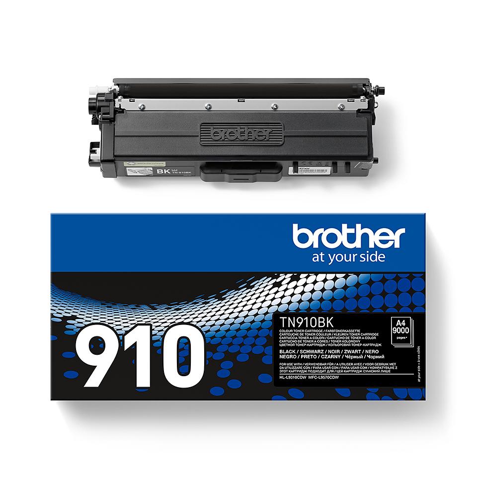 TN-910BK originele zwarte Brother toner met ultra  hoog rendement 2