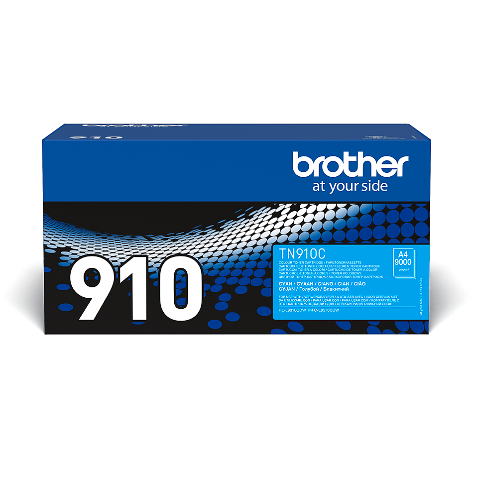 TN-910C originele cyaan Brother toner met ultra hoog rendement