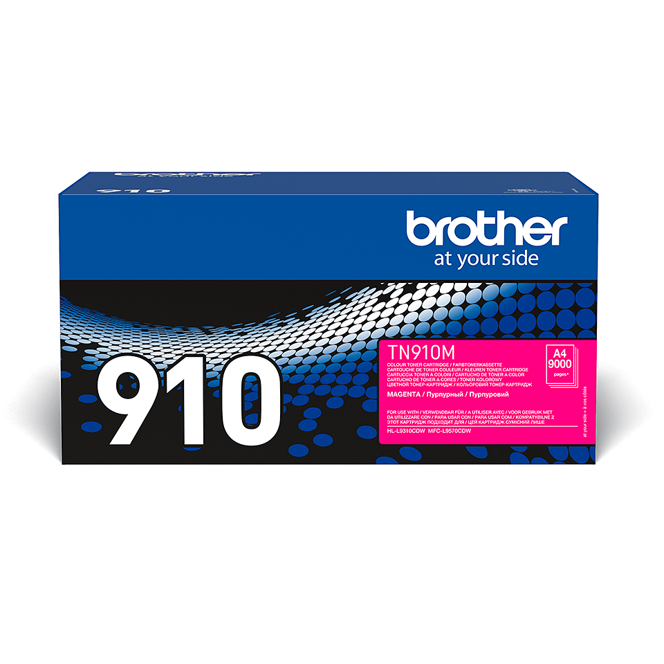 TN-910M originele magenta Brother toner met ultra hoog rendement