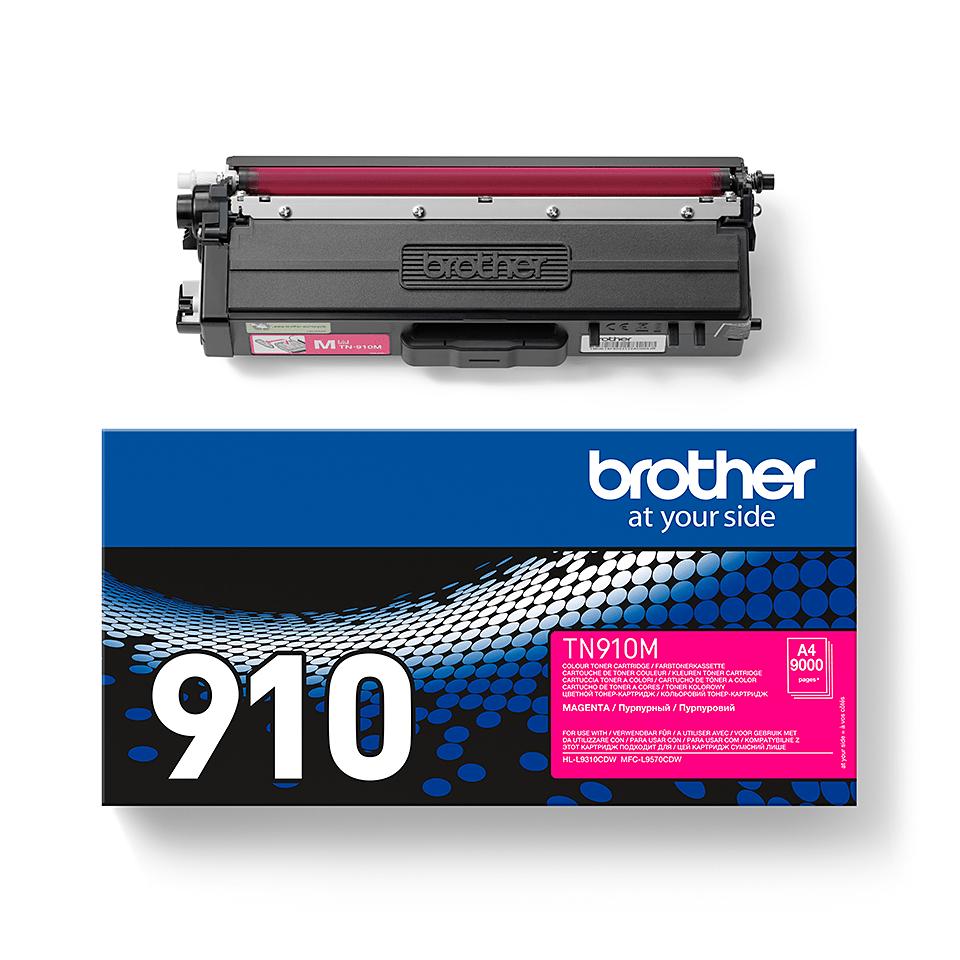TN-910M originele magenta Brother toner met ultra hoog rendement 2