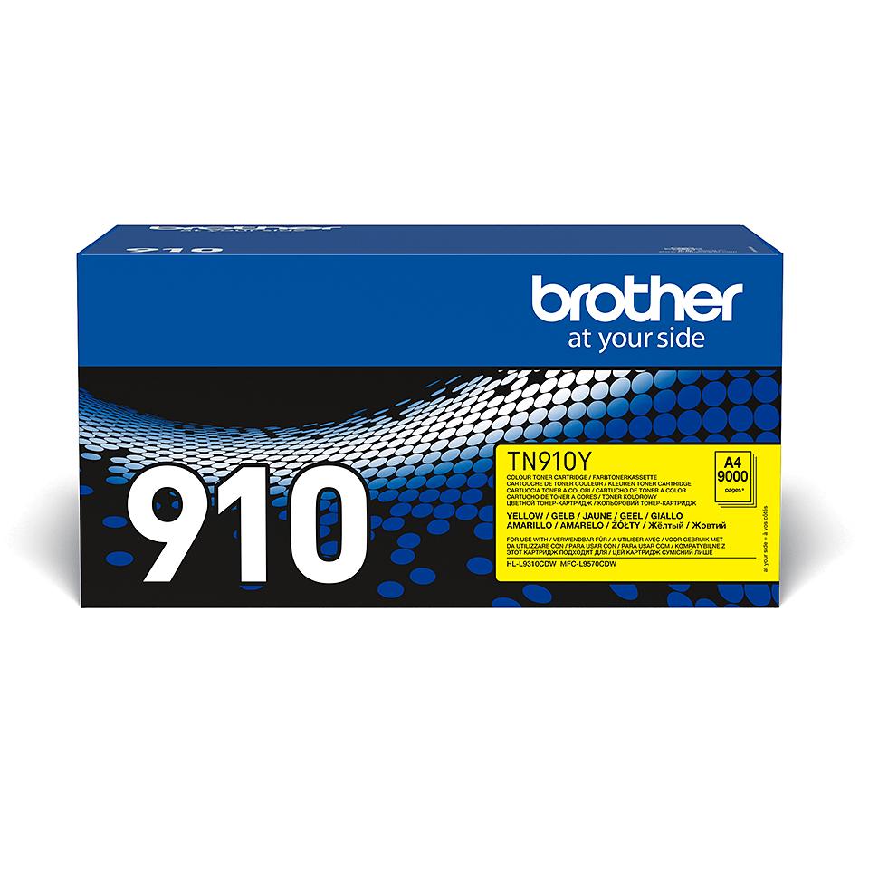 TN-910Y originele gele Brother toner met ultra hoog rendement 2