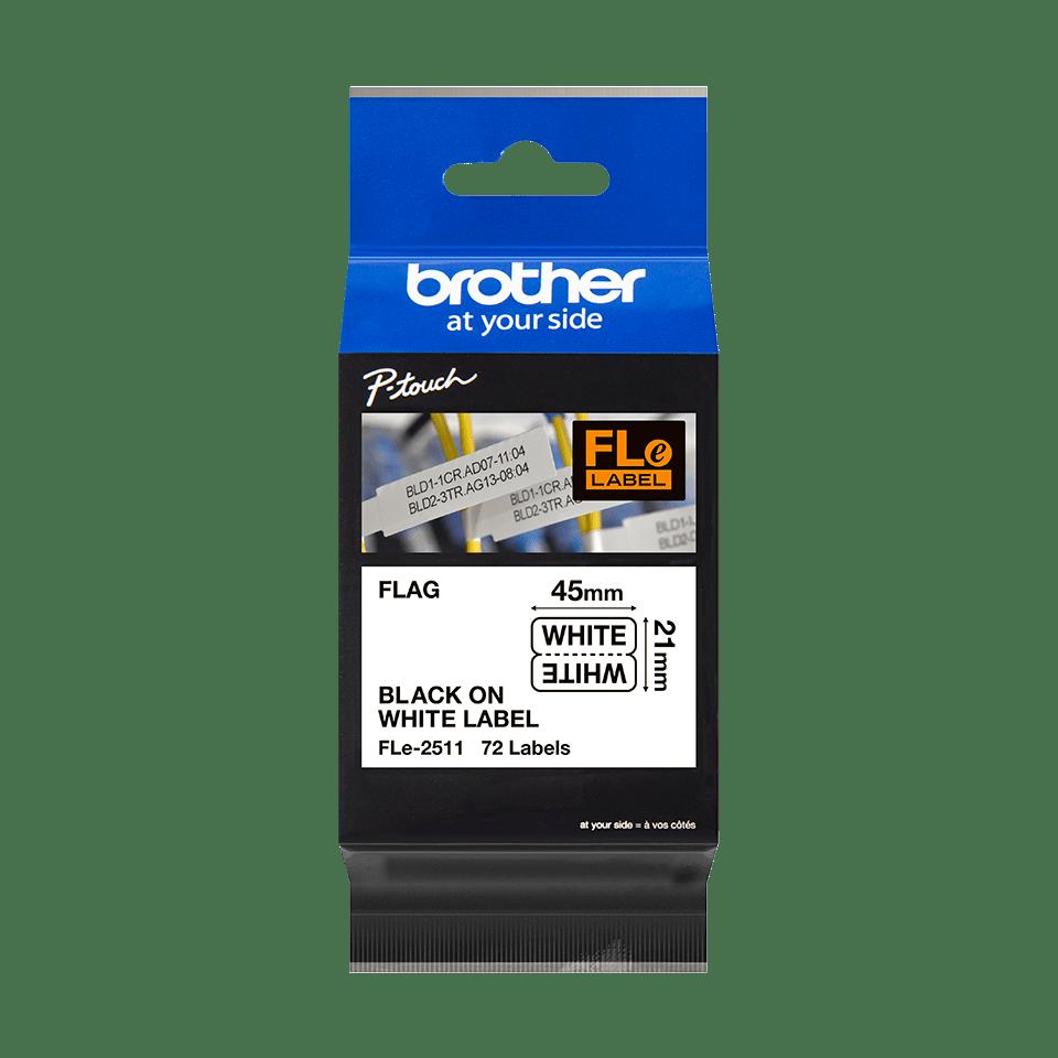 Originele Brother FLe-2511 vlagtape labels 3