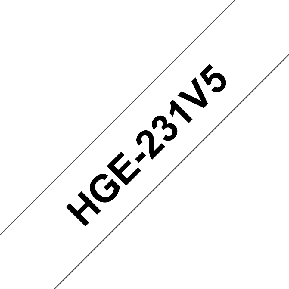 Originele Brother HGe-231V5 high grade labels