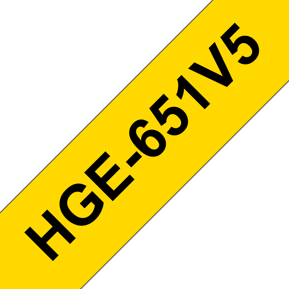 Originele Brother HGe-651V5 high grade labels