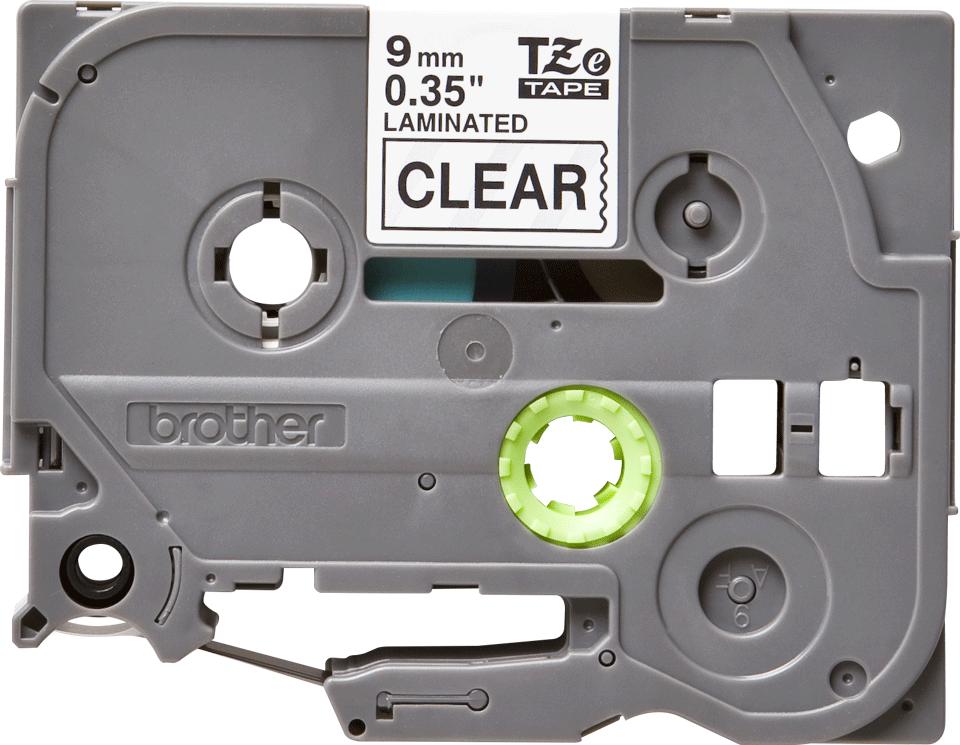 Cassette à ruban pour étiqueteuse TZe-121 Brother originale – Noir sur transparent, 9mm de large 0