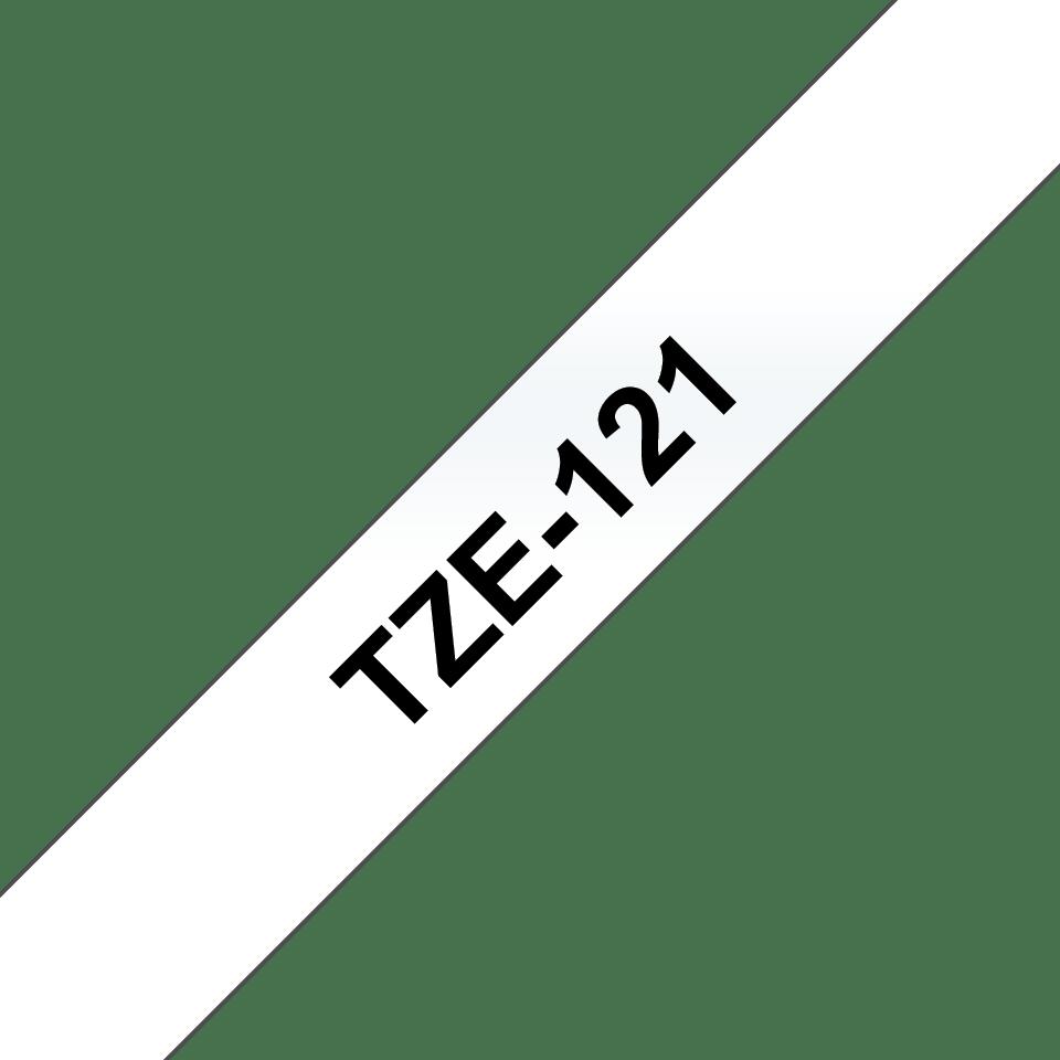 Cassette à ruban pour étiqueteuse TZe-121 Brother originale – Noir sur transparent, 9mm de large 2