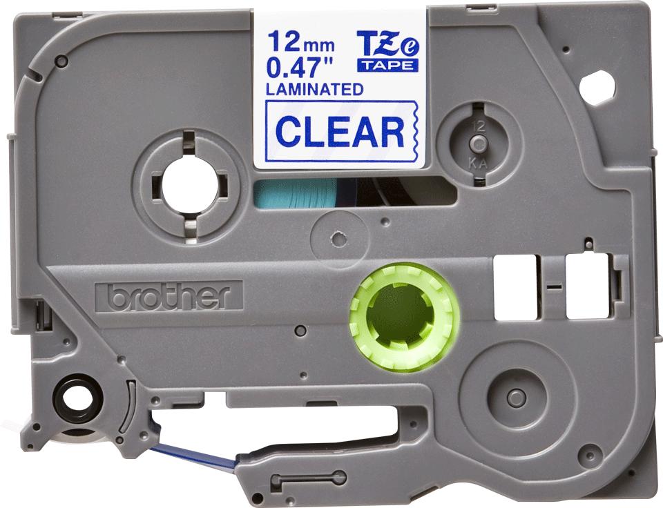 Cassette à ruban pour étiqueteuse TZe-133 Brother originale – Bleu sur transparent, 12mm de large 0