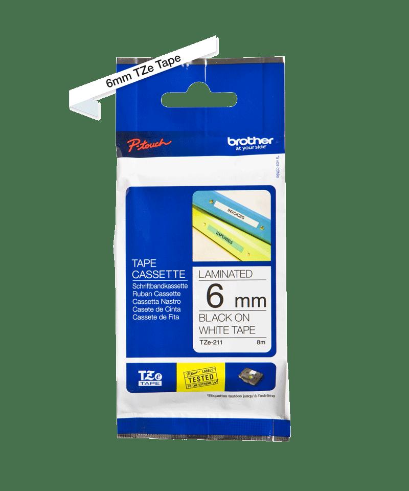 Brother TZe-211 ruban d'étiquettes 6mm 3
