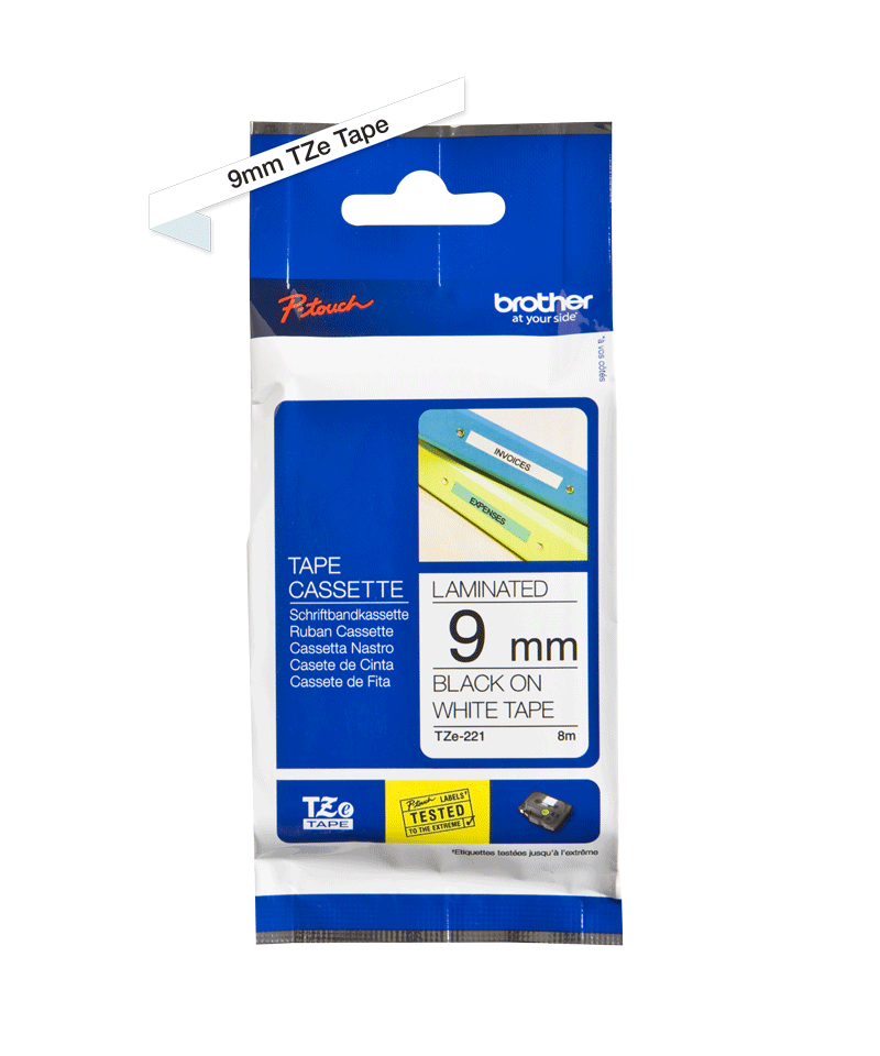 Brother TZe-221 9mm labeltape 3