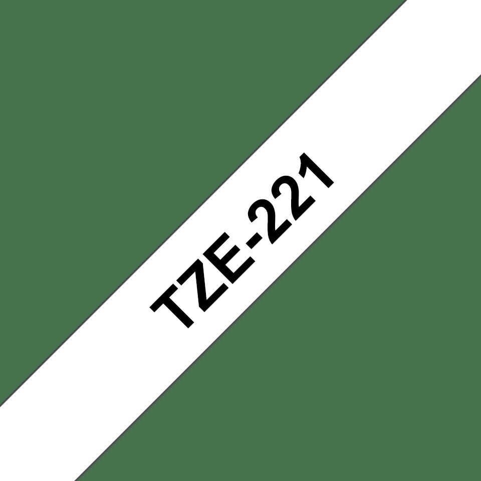 Cassette à ruban pour étiqueteuse TZe-221 Brother originale – Noir sur blanc, 9mm de large 2