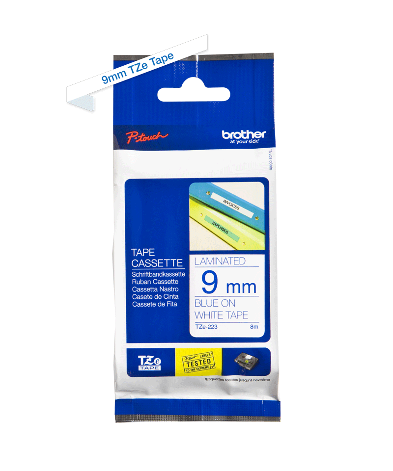 Brother TZe-223 9mm labeltape 3