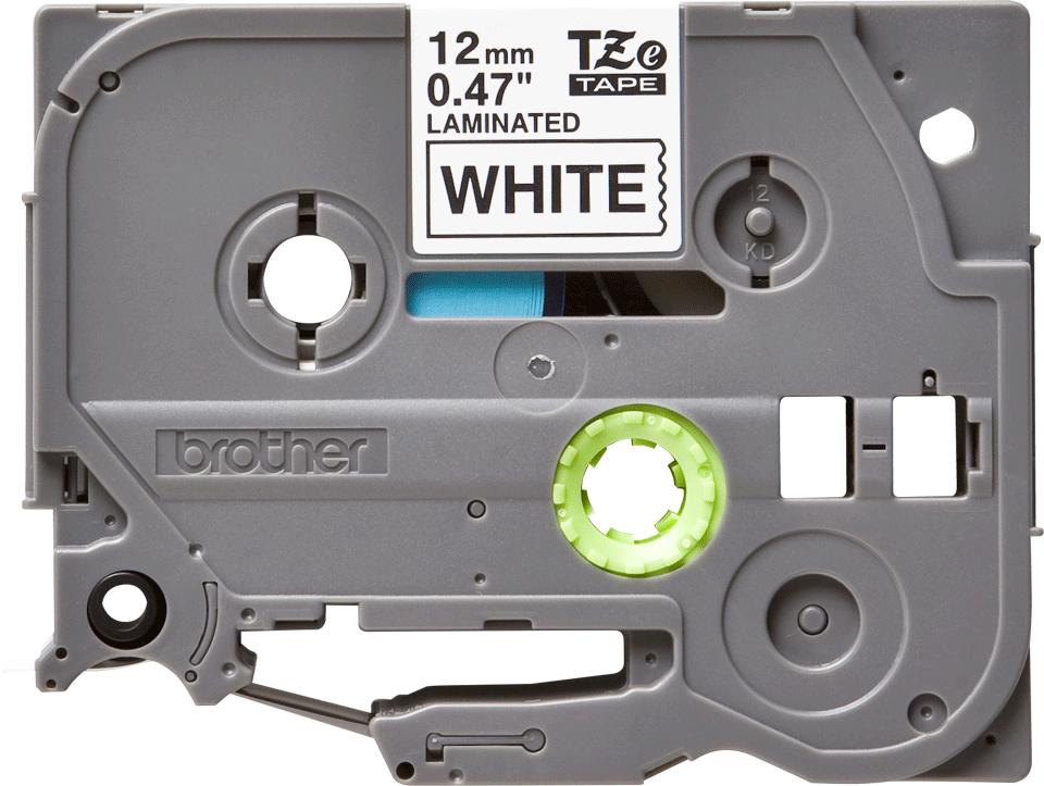 Originele Brother TZe-231 labeltape cassette – Zwart op wit, 12mm breed 0